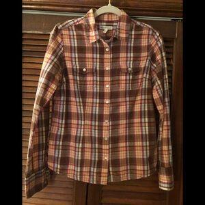 Aeropostale Girls Plaid Western style Shirt